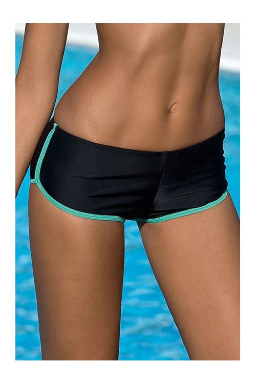 Dámské sportovní plavky Jana zelené dolní díl - černá