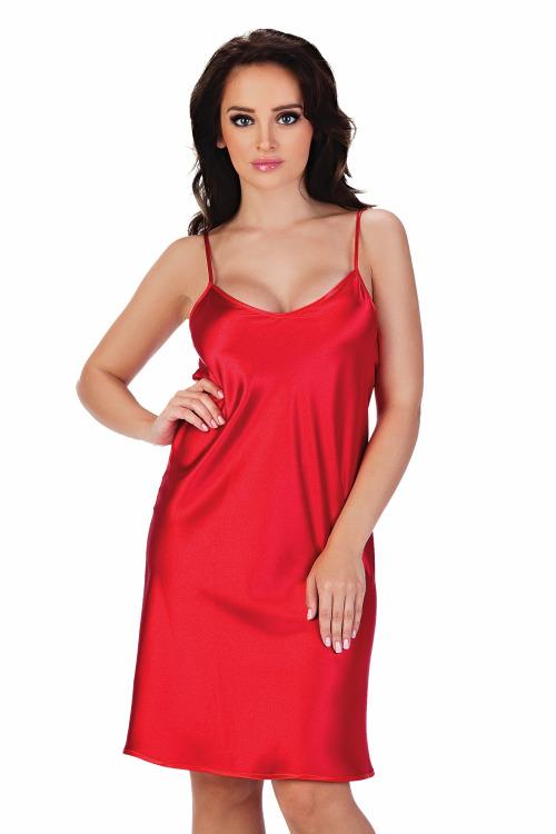 Saténová košilka Classic červená