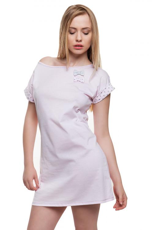 Dámská noční košile Love růžová