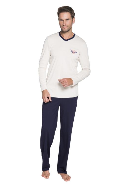Pánské pyžamo Štefan béžové - béžová