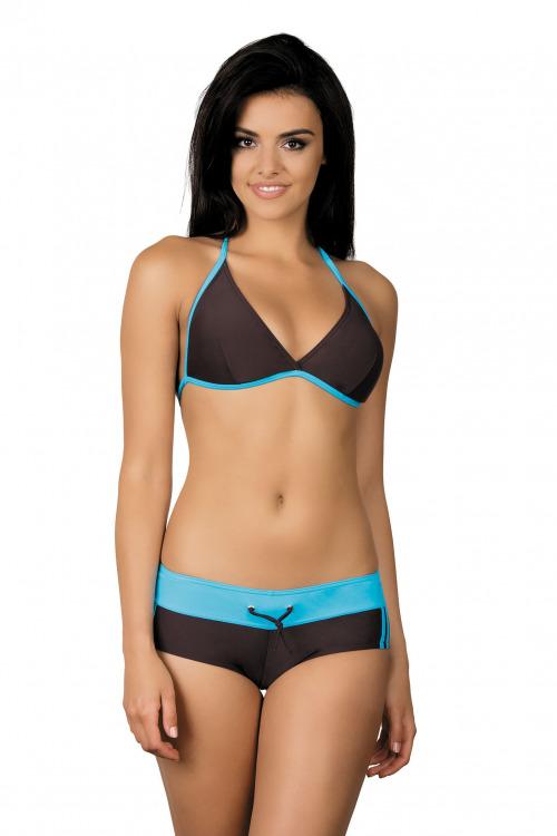 Dámské sportovní plavky Artis hnědé modré - hnědá
