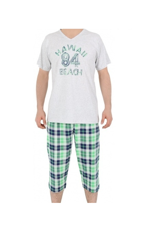 Pánské pyžamo Hawai - šedá