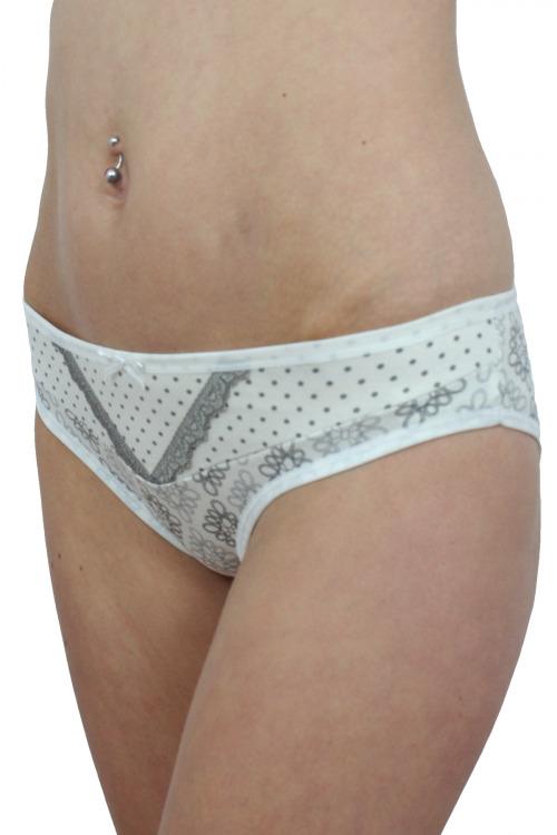Bavlněné dámské kalhotky Casia ecru - bílá