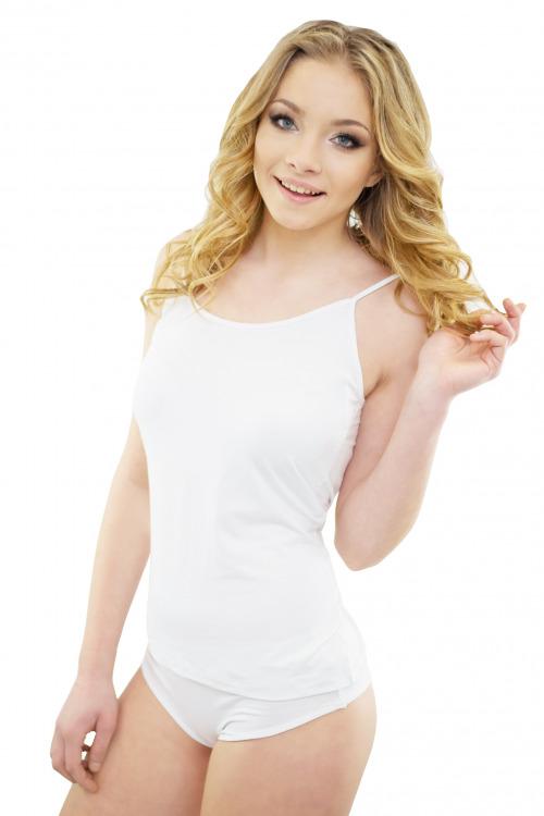 Dámské pyžamo z viskózy Alana bílé - bílá