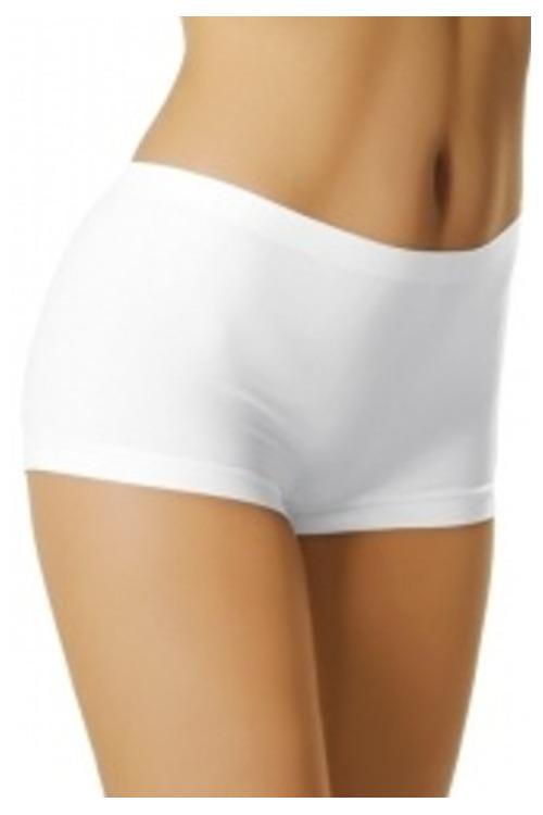 Dámské kalhotky bílé s krátkou nohavičkou - bílá