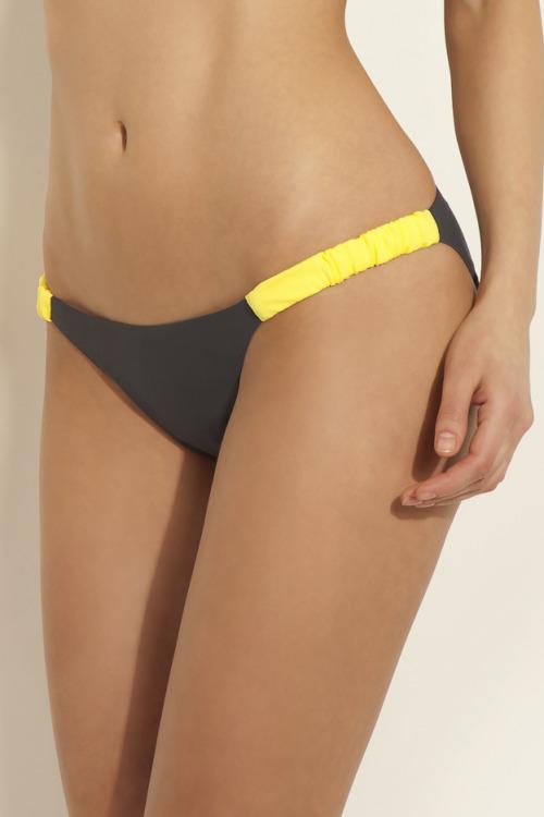 Dámské plavky bikiny Arista žluté dolní díl - šedá