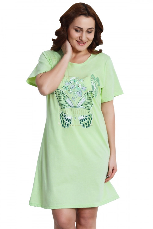 Noční košile Gia pistáciová - zelená